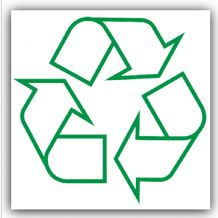 1 x Recycling Logo Bin Adhesive Sticker-Recycle Logo Sign-Environment Label
